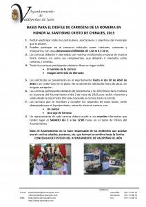 Bases Concurso Carrozas para Romeria 2015