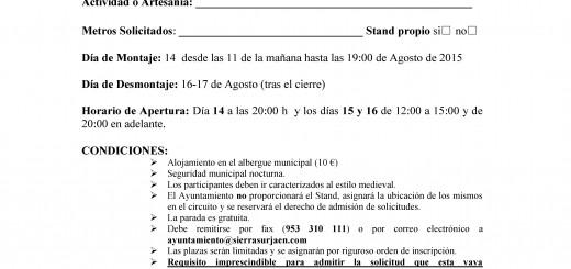 SOLICITUD DE PARTICIPACION MERCADO 2015